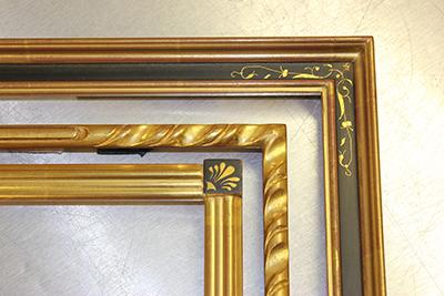 Closed Corner Frames, Gold Frame, Gold and Black Frame, Thin Frame, Thick Frames