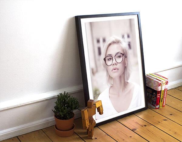 Custom Picture Framing NYC/NJ - Framed Art - Double Frame, White Mat, Art Frame