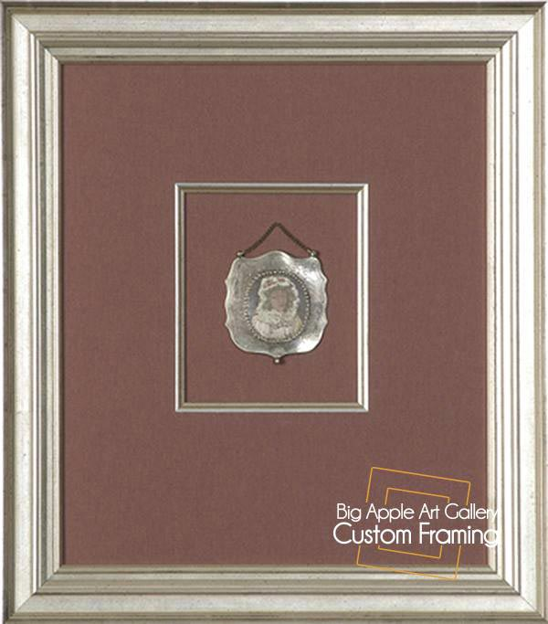 Silver Frames, Quality Matboard, Layered Framing, Award Framing
