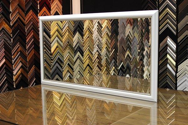 Mirror Frame - White Frame, Silver Frame