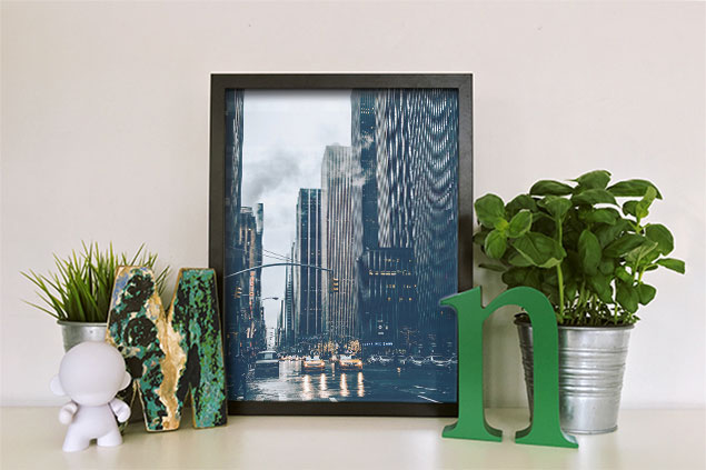 Custom Picture Framing NYC/NJ - Framed Photograph - NYC Photo - Black Frame