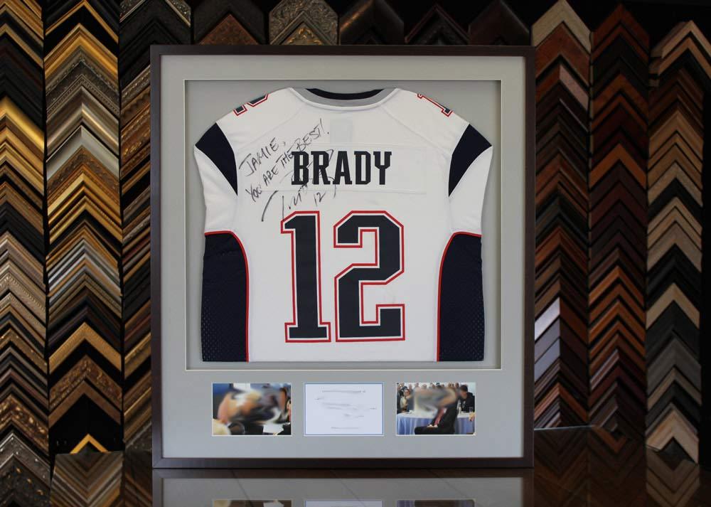 Tom Brady New England Patriots Jersey Shadow Box Framing