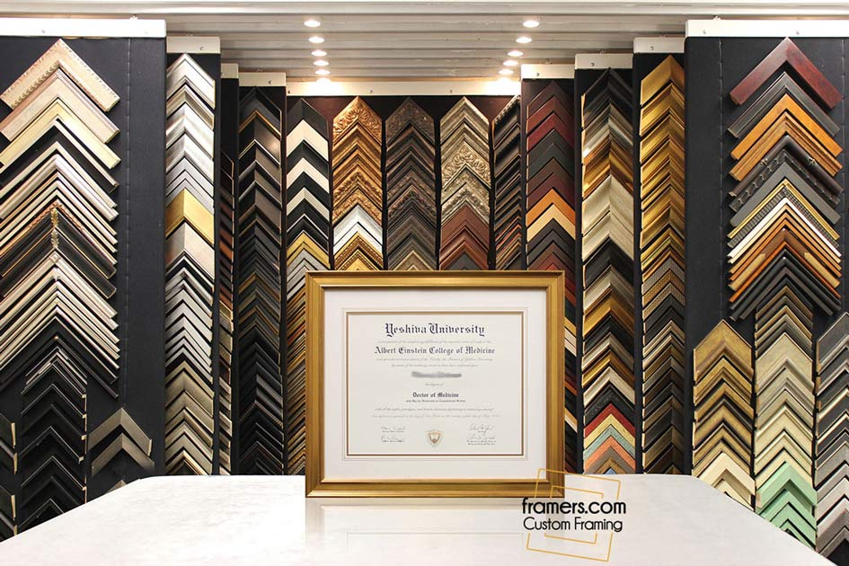 background diploma framing